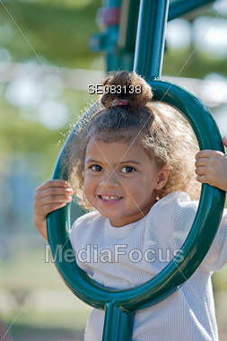 Little Girl at the Playground Stock Photo