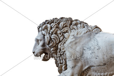 Llion Near Palazzo Vecchio In Florence. Italy. Europe. Stock Photo