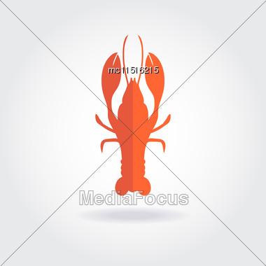 Lobster Logo Template. Vector Design For Seafood Restaurente Stock Photo