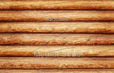 Log House Texture As A Grunge Background Stock Photo