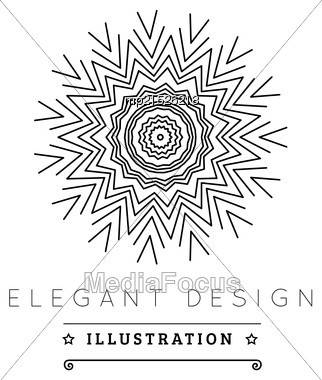 Logo Template. Black And White Design. Outline Style. Conceptual Minimal Icon. Use For Card, Poster, Brochure, Banner, Web. Easy To Edit. Vector Illustration - EPS10 Stock Photo