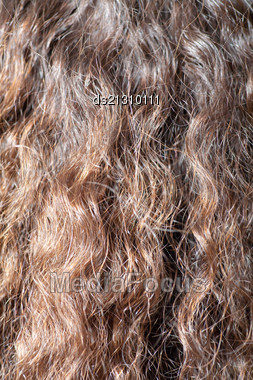 Long Brown Hair As Background Stock Photo