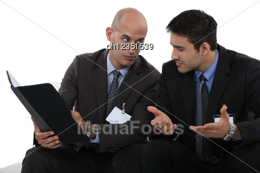 Looking Commercial Catalog In A Waiting Room Stock Photo