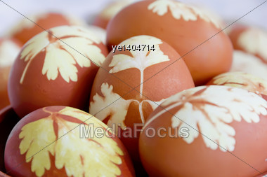 Lot Easter Colorful Eggs Stock Photo