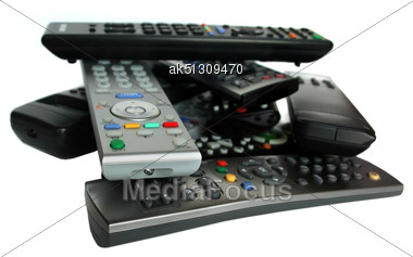 Lot Of Remote Control Devices Stock Photo