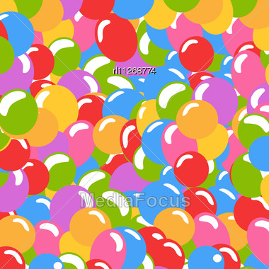 Lots Of Balloons Background In Many Colors Stock Photo