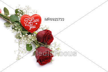Love Heart and roses Stock Photo