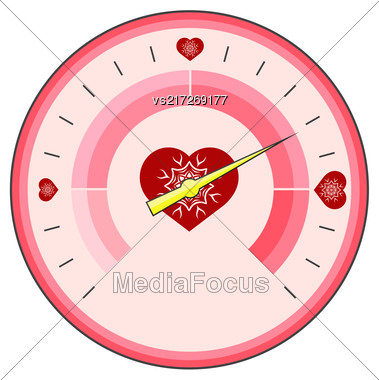 Love Thermometer Valentines Day Isolatetd On White Background Stock Photo