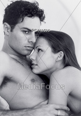 Loving Young Couple In Embrace Stock Photo