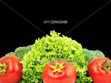 Low-calorie Raw Vegetables Stock Photo