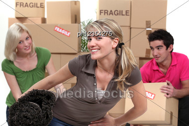 Luckily My Friends Are There. Stock Photo