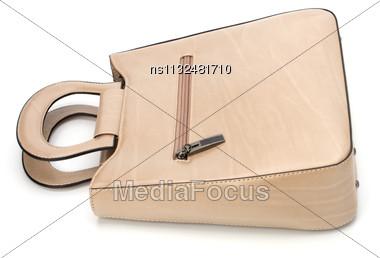 Luxury Female Handbag Isolated On White Background Stock Photo