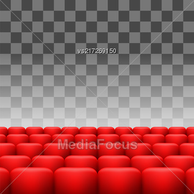Luxury Red Seats Isolated On Checkered Background Stock Photo