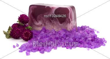 Luxury Soap Isolated On White Background Stock Photo