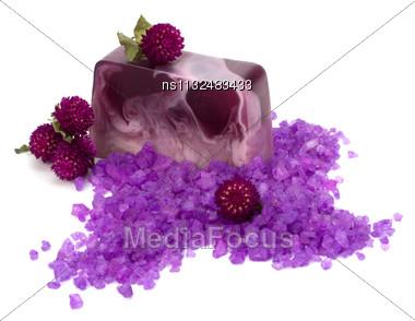 Luxury Soap Isolated On White Background Close Up Stock Photo