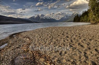 Majestic Glacier National Park In Montana USA Mountains Stock Photo