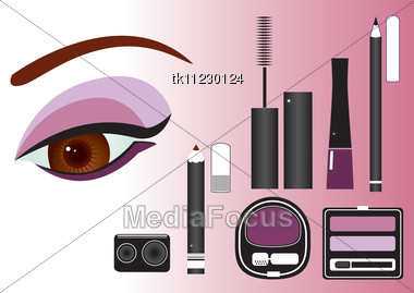 Makeup Close-up.Vector Image Stock Photo