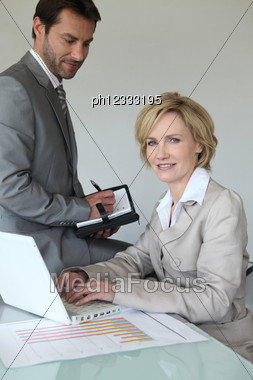 Making An Appointment Stock Photo