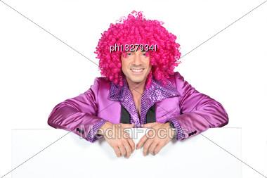 Man Dressed Up Stock Photo