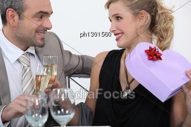 Man Full Of Romantic Gestures Stock Photo