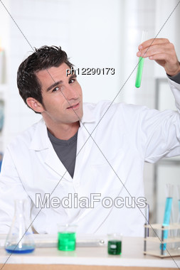 Man In Lab Stock Photo