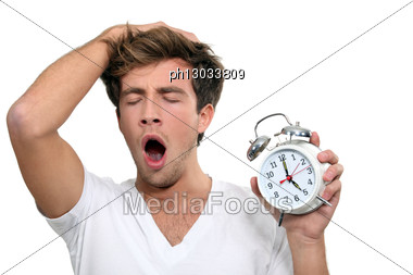 Man Yawning Stock Photo