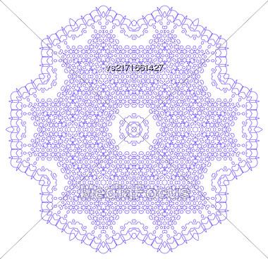 Mandala Isolated On White Background. Round Ornament Stock Photo
