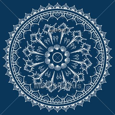 Mandala Made Of Seashells. Vector Decorative Background Stock Photo