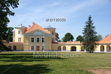 Manor Of Great Russian Seafarer Krusenstern. Estonia Kiltsi Stock Photo