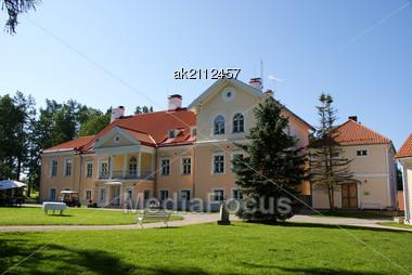 Manor In The North Of Estonia. 18 Century. Vihula Stock Photo