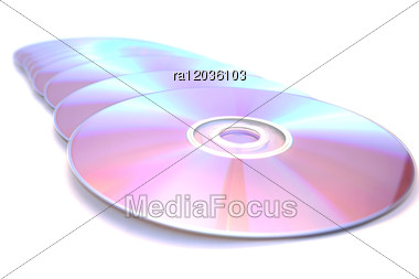 Many Printable Dvds Stock Photo