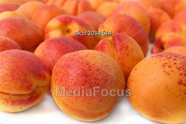Many Tasty Ripe Apricots Stock Photo