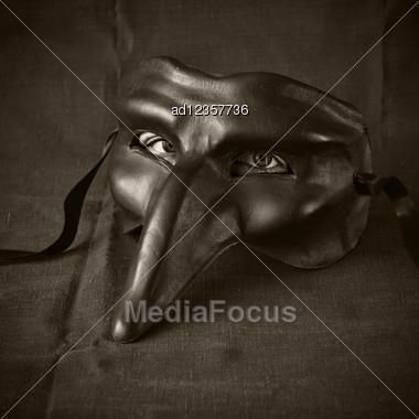 mask with eyes Stock Photo