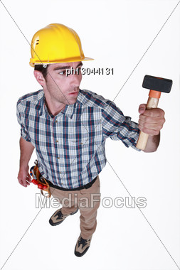 Mason Hammer Stock Photo