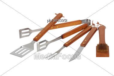 Matching Barbecue Utensils Stock Photo
