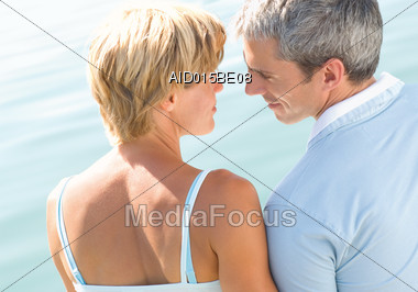 Mature Couple Looking at Each Other Stock Photo