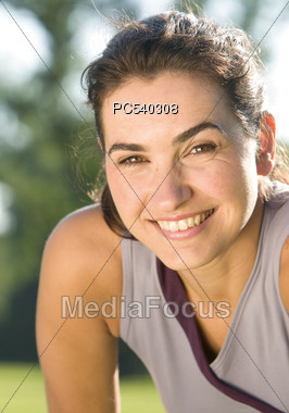 Mature Fit Woman Stock Photo
