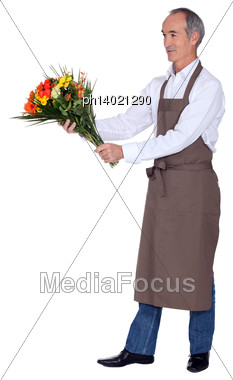 Mature Florist Stock Photo