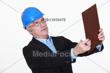 Mature Male Architect. Stock Photo