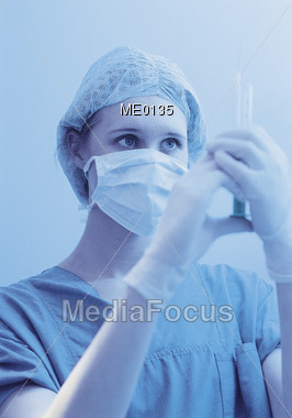 professionals mask gloves Stock Photo