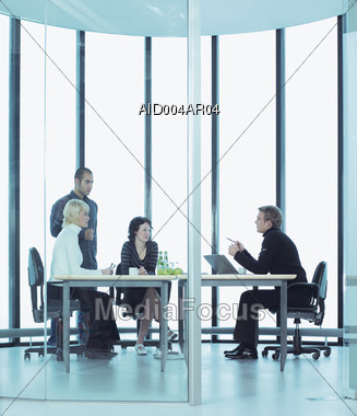 Meeting with Clients Stock Photo