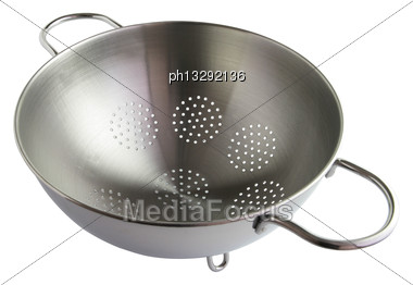 Metal Colander Stock Photo