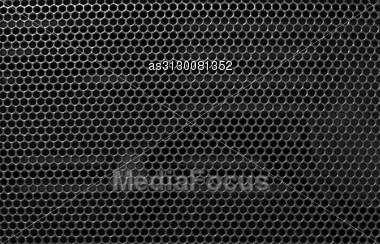Metal Holed Grid Background Black Hole Stock Photo