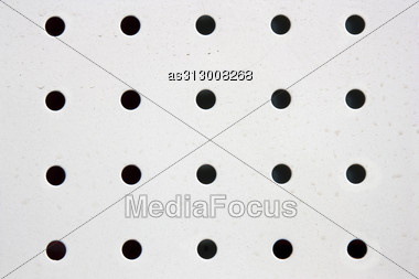 Metal Holed Grid Background Black Hole Stock Photo