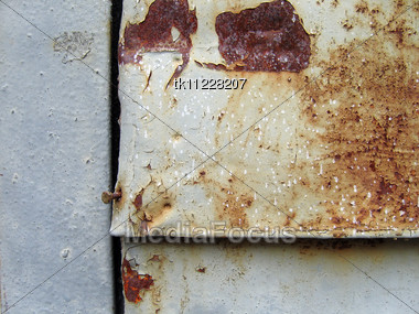 Metal Old Background With Crack And Rust Texture Stock Photo