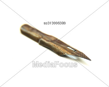 Metal Old Feather For The Handle Stock Photo