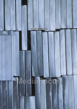 Metal Plates Ingots Stock Photo