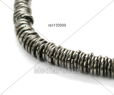 Metallic Necklace Stock Photo