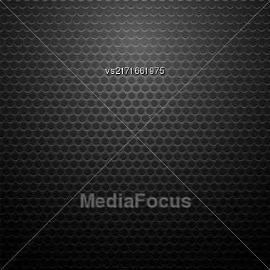 Metallic Perforated Texture. Dark Carbon Pattern. Fiber Pattern Stock Photo