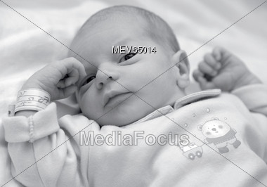 child babies laying Stock Photo